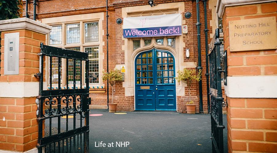 Life at NHP - Picture of the school's front door